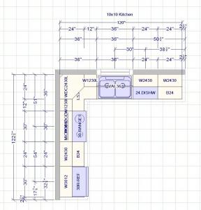 10x10 Kitchen Plan 288x300 - Entrepot-cuisine-Cuisine Luxor Blanc Price List-armoires de cuisine